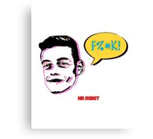 Mr Robot - Comics Pop Art Canvas Print
