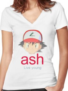 Ash K. Women's Fitted V-Neck T-Shirt