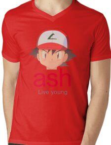 Ash K. Mens V-Neck T-Shirt