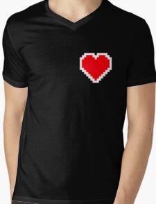 Pixel Heart Mens V-Neck T-Shirt