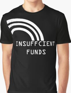 Insufficient Funds Rainbow Graphic T-Shirt