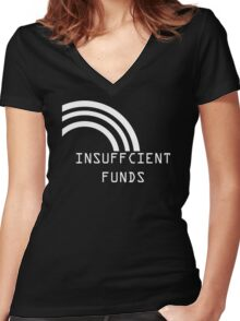 Insufficient Funds Rainbow Women's Fitted V-Neck T-Shirt