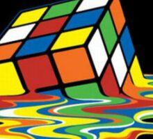 Melting Rubix Cube  Sticker