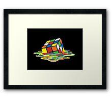 Melting Rubix Cube  Framed Print