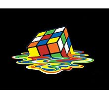 Melting Rubix Cube  Photographic Print