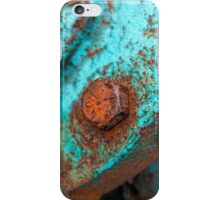 Rusty And Blue photography iPhone Case/Skin