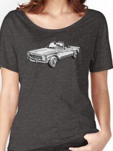 Mercedes Benz 280 SL Convertible Illustration Women's Relaxed Fit T-Shirt