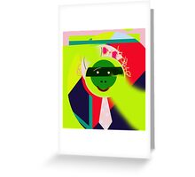 Green face Greeting Card