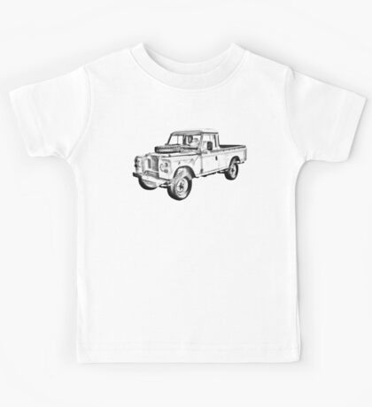 1971 Land Rover Pick up Truck Drawing Kids Tee