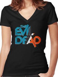 Retro The Evil Dead Women's Fitted V-Neck T-Shirt