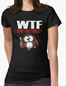 Funny wine shirt Womens Fitted T-Shirt