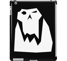 Orc head (White) iPad Case/Skin