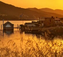 Sunset of the sunken village - Crete Sticker