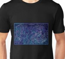 0167 Railroad Maps Rail road map of Pennsylvania published by the Department of Internal Affairs of Pennsylvania Inverted Unisex T-Shirt