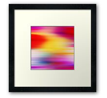 Vibrant Colors Abstract Rays Framed Print