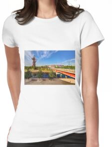 West Ham FC Stadium And The Arcelormittal Orbit  Womens Fitted T-Shirt