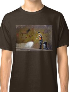 Council Worker by Banksy Classic T-Shirt