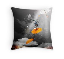 JUST BEFORE THE RAIN OF RUST Throw Pillow