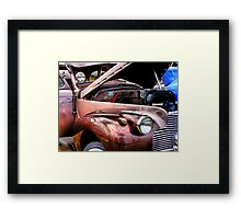 The Brown Car Framed Print