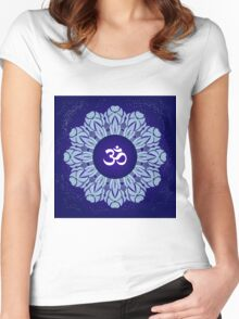 Symbol Om Space Mandala Women's Fitted Scoop T-Shirt