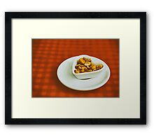 Heart Shaped Bowl With Dried Hard Fruits And Peanuts Framed Print