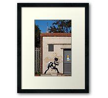 Office Rage by Banksy Framed Print
