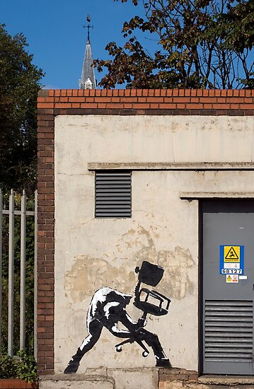 Office Rage by Banksy by Respire