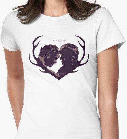 Murder Husbands Heart Design Womens Fitted T-Shirt