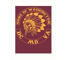 Redskins - Sons of Washington Art Print