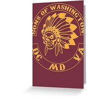 Redskins - Sons of Washington Greeting Card