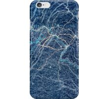 0242 Railroad Maps Map showing the road of the Coal and Iron Railway Co and the coal and iron ore lands along its Inverted iPhone Case/Skin