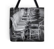 54 Parisien Tables B&W Tote Bag