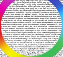 A Head Full Of Lyrics Sticker