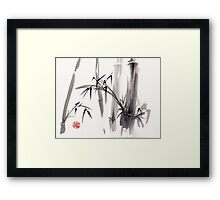 'after the rain'  - original ink and wash painting Framed Print