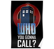 Doctor WHO you gonna call? Poster