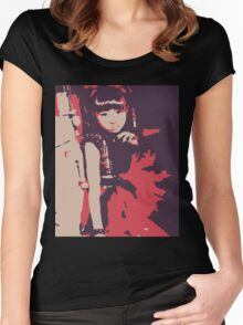 Moa Metal Red Women's Fitted Scoop T-Shirt