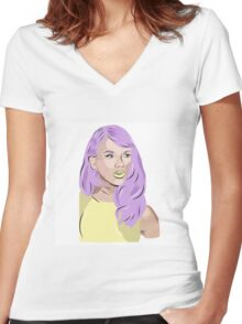 taylor swift drawing Women's Fitted V-Neck T-Shirt
