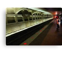 Waiting at Farragut North Metro Canvas Print