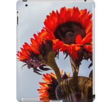 Orange sunflower iPad Case/Skin