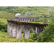 The Jacobite Steam train on the Glenfinnan Viaduct Photographic Print