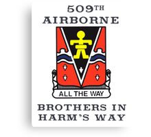 509th Airborne - Brothers in Harm's Way Canvas Print