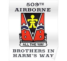 509th Airborne - Brothers in Harm's Way Poster