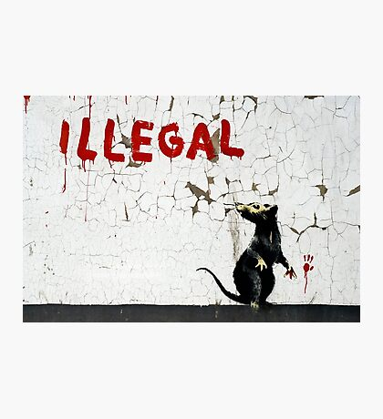 Fitzrovia Rat by Banksy Photographic Print