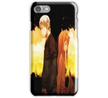 Horo  & Kraft Lawrence - Spice And Wolf iPhone Case/Skin