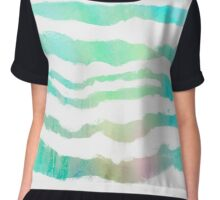 Tropical Waves abstract art Chiffon Top