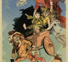 Vintage belle époque Paris French toy store ad  Sticker