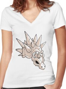 Dry Bowser Women's Fitted V-Neck T-Shirt