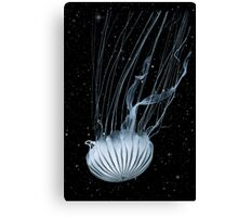 Jellyfish Universe Sky night  Canvas Print