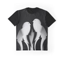 Paper Ribbon Birds Graphic T-Shirt