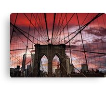 Sunset Gothic Canvas Print